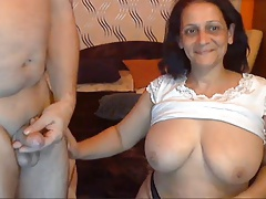 Sexy Indian Granny with..