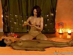 Lusty Lesbian HD Palpate