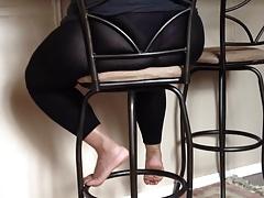 Wed in see thru leggings..